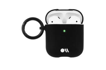Case-Mate Hookups Case/Cover for Apple AirPods with Ring Clip/Neck Strap Black