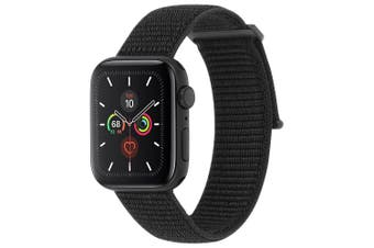 Case-Mate Nylon Sport Watch Strap Wrist Band for 42-44mm Apple Watch Black