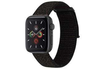 Case-Mate Nylon Sport Wrist Band/Strap for 42-44mm Apple Watch Metallic Black