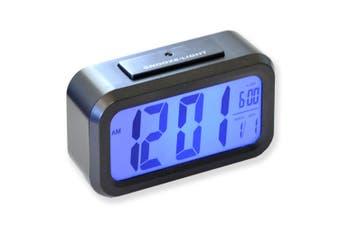 Sansai Large Display LCD Alarm Clock w/ Snooze 12/24 Format Blue Backlight