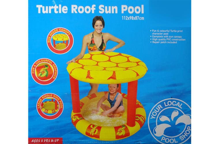 Inflatable Toddler Kids Turtle Roof Sun Shade Ring Pool Outdoor/Beach/bath/Toy