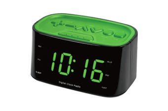 FM Radio LED Display Dual Alarm Clock/USB Charger Port for Smartphones Charging