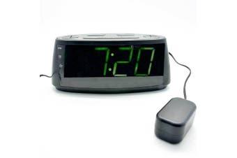 AM/FM Vibrating Single Alarm Clock Radio Large/Big Led Digital Display/Dimmer