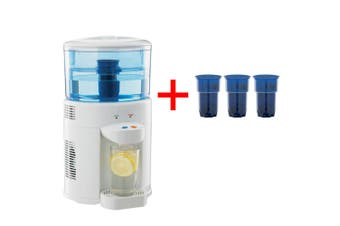 Lenoxx 5L Bench Top Water Cooler filter Dispenser Cooling + 3 filter replacement