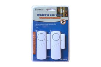 2pc Sansai Window/Door Battery Siren Alarm Trigger Alert Home Security Safety