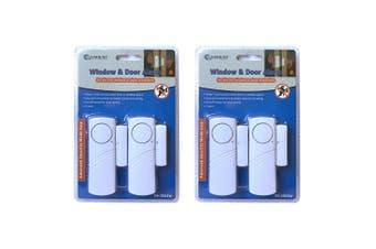 2x 2pc Sansai Window/Door Battery Siren Alarm Trigger Alert Home Security Safety