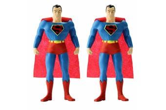 """2PK Justice League Superman DC Superhero 5.5"""" Bendable Kids/Children Toy Figures"""
