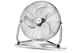 Dimplex DCFF46B 46cm High Velocity Floor Fan Metal/Chrome 3 Speed Cooling/Cooler