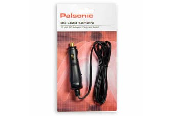 Palsonic 1.2m 4A 12V DC Adapter Plug/Lead In-Car/Caravan Charger for Tvs