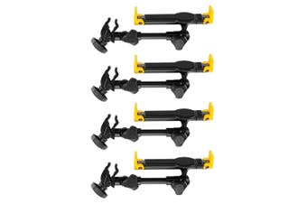 """4x Hercules 7"""" to 10.1"""" iPad Tablet Holder/Mount for Desk Keyboard/Mic Stand BLK"""