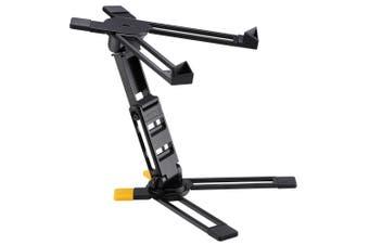 Hercules DJ Laptop Stand/Holder w/Adjustable Angle/Height Mixer Folding Design