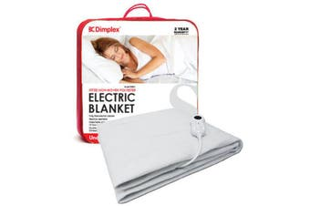 Dimplex Single Portable Fitted Electric Blanket Heater/Machine Washable/Timer