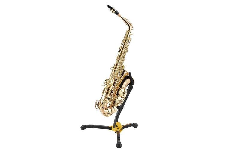 Hercules Musical Instrument Stand/Holder for Alto/Tenor Saxophone w/ Bag Black