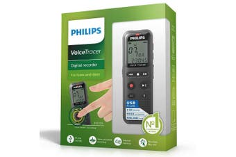 Philips DVT1150 4BGB Digital Voice Recorder Activated Audio Tracer Notes/Ideas