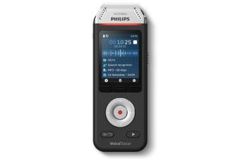 Philips 8GB Rechargeable Voice Tracer Stereo Mic Audio Recorder/Dragon Software