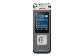 Philips VoiceTracer Audio/Voice Recorder for Music/Lectures w/ 3 Microphone Grey