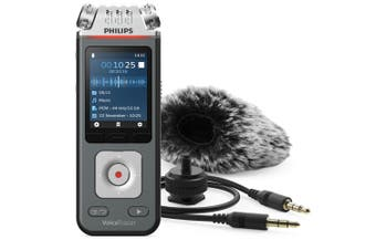 Philips DVT7110 8GB VoiceTracer Audio Recorder w/3 Mics/DSLR Video Shooting Kit