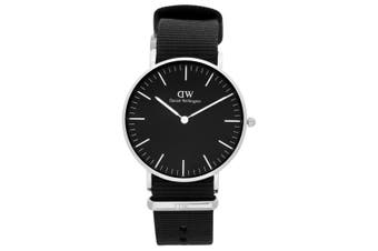 Daniel Wellington Quartz 36mm Classic Cornwall Analogue Unisex Wrist Watch Black