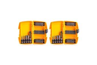 2x DeWalt 25pc Screwdriver/Philips/Nut Driver Bit Tip Set Hand Repair Tool Kit