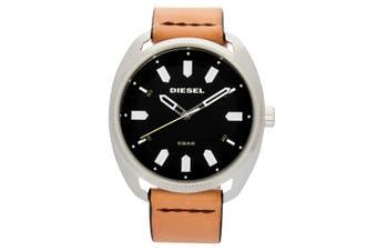 Diesel Men's 45mm Analogue Watch w/Fastbak Leather Strip Band Tan/Blue/Black