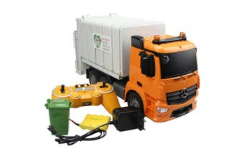 Double E 1:20 RC Mercedes Benz Antos Garbage Truck w/ USB Charger/Lights Kids 6+