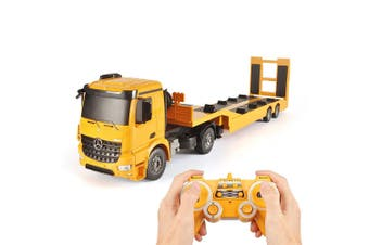Double E 1:20 RC Mercedes-Benz Truck Arocs Flat Bed Trailer w Lights/Sounds Kids