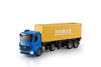 Double E 1:20 RC Mercedes Benz Arocs Container Truck w/ Sounds/Lights f/ Kids 6+