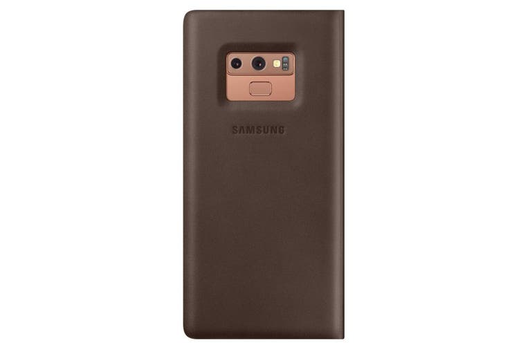 Samsung Leather Wallet Case Cover Folio/Card Slot for Galaxy Note9/Note 9 Brown