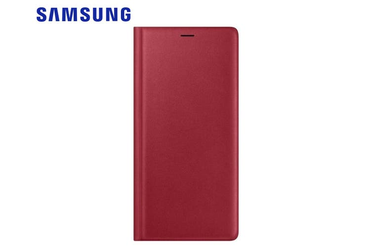 Samsung Leather Wallet Case Cover Folio w/ Card Slot for Galaxy Note9/Note 9 Red