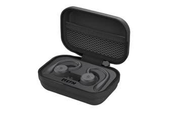 EFM TWS Pelion Bluetooth Sports Earbuds/Ear Hook Earphones Water Resistant Black