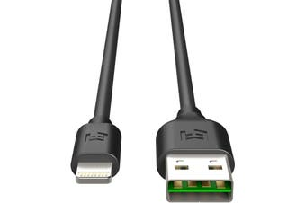EFM 2m Lightning to USB-A Cable iPhone/iPad Data Sync/Charging Cable Black
