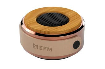 EFM Bergen Bluetooth Wireless Portable Speaker Rose Gold w/Mic for Smartphones