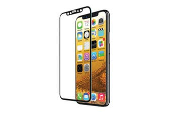 EFM Clear/Black TT Sapphire Tough Glass Screen Protector Guard for iPhone X