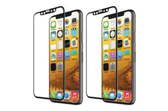 2x EFM Clear/Black TT Sapphire Tough Glass Screen Protector Guard for iPhone X