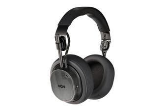 House of Marley ANC Noise Cancelling Bluetooth 5.0 Headphones w/Mic Black Exodus