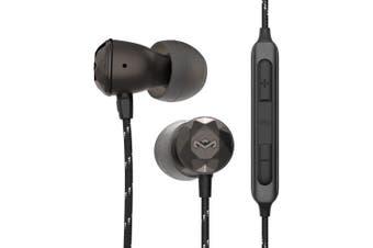 Marley Nesta Wired In-Ear Headphones/Earphones Earbud w/ Microphone/Bag Hematite