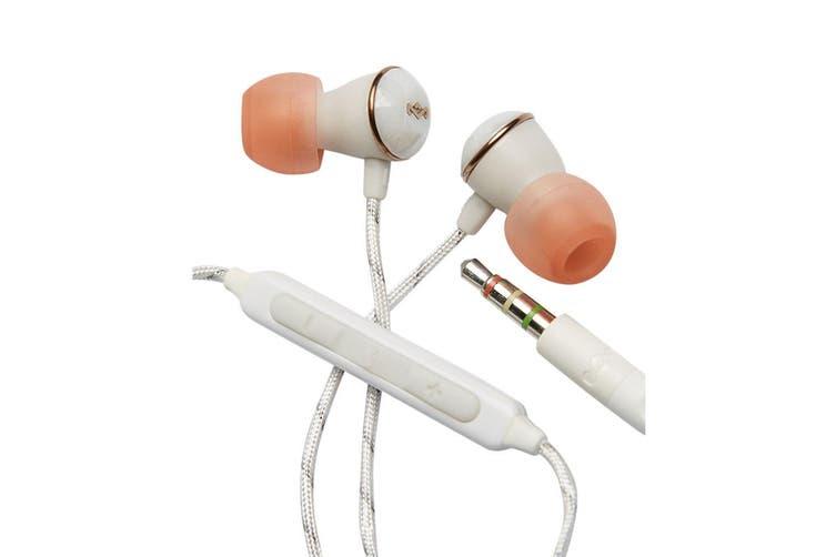 Marley Nesta Wired In-Ear Headphones/Earphones Earbud w/ Microphone/Bag Rose GLD