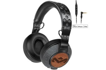 Marley Liberate XL Headphones Fold Headband Headset/Mic for iPhone/Apple/iPad