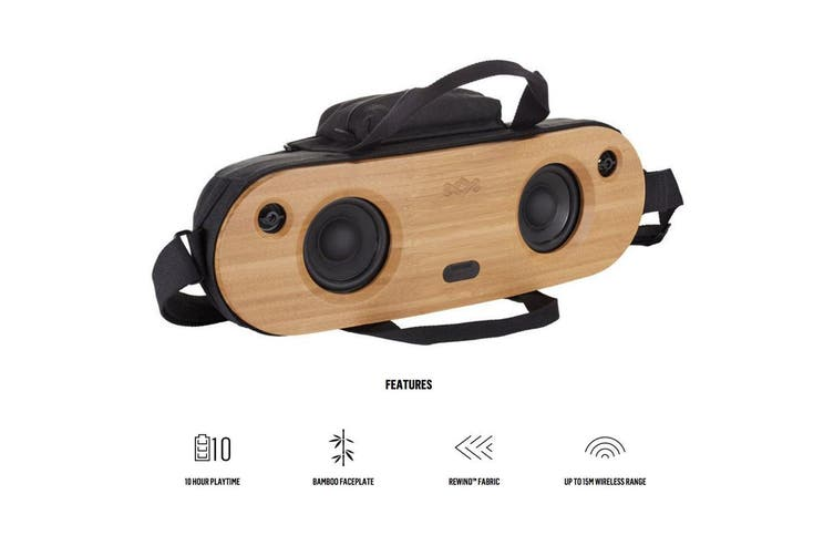 House of Marley Bag of Riddim 40W Portable Wireless Bluetooth Speaker - Wooden