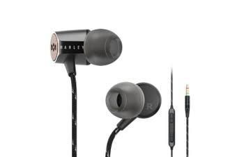 House of Marley Uplift 2 In-Ear Earphones Headset Mic/Remote For IOS Apple Black