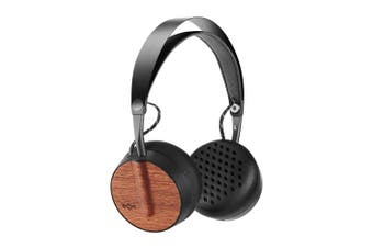 Marley Buffalo Soldier Black Wireless/Bluetooth On-Ear Wooden Headphones w/Mic
