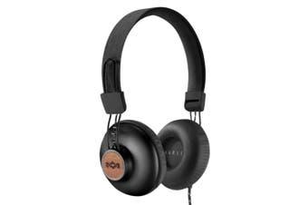 House of Marley EM-JH121-SB Positive Vibration 2 Headphones/Headband w/Mic Black