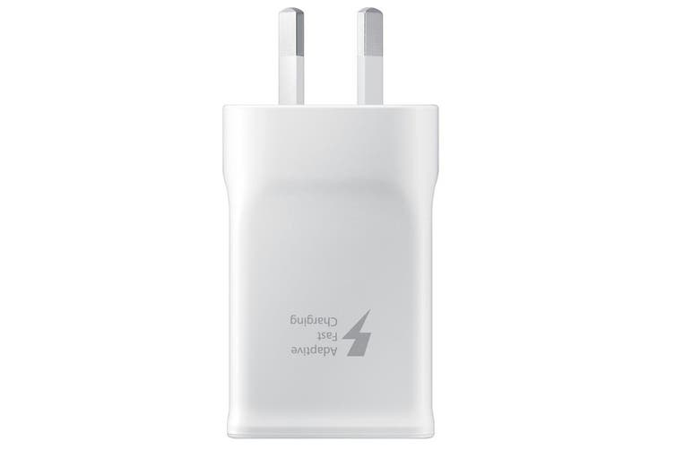 Samsung 15W 5V Fast USB 2.0/A Travel Wall Charger Adaptor w/ USB-C Cable White
