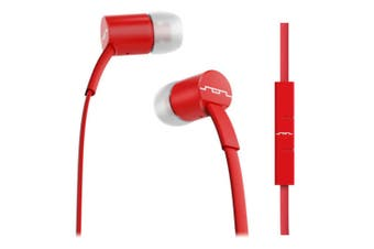 Sol Republic JAX In-Ear Headphones/Earphones/Headset w/Mic for Android/Apple Red