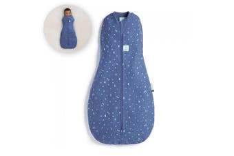 ErgoPouch Cocoon Swaddle Organic Cotton Baby Sleep Bag TOG 0.2 Size 6-12m Sky