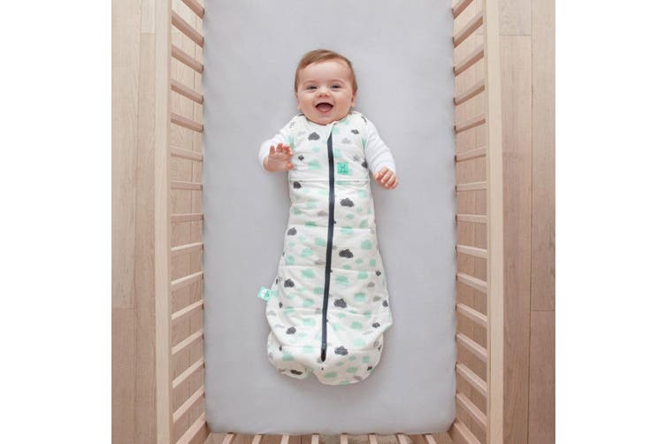 ErgoPouch Baby Cocoon Swaddle Bag 2.5 TOG Wrap 2-6m w/ Room Thermometer Clouds