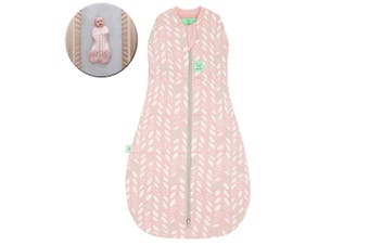 ErgoPouch Organic/Cotton 2.5 TOG Cocoon Swaddle Bag 2-6m for Baby Spring Leaves