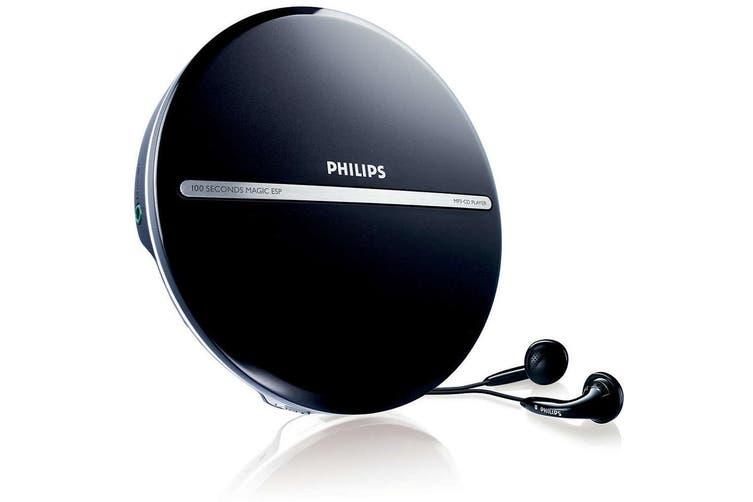 Philips Portable MP3 CD CD-R CD-RW Disc  Player/JogProof 100 sec + Earphones