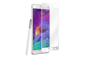 Tough 0.3 Tempered Glass Screen Protector Guard for Samsung Galaxy Note 4 White