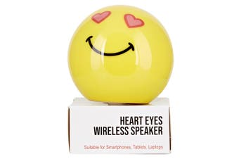 Carter Emoticon Audio Portable Wireless USB Bluetooth Speaker Heart Eyes Yellow